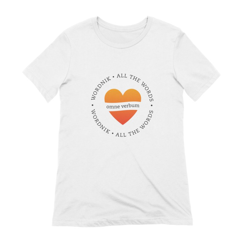 Omne Verbum—All The Words! Women's Extra Soft T-Shirt by wordnik's Artist Shop