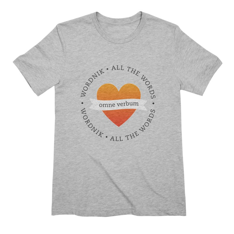 Omne Verbum—All The Words! Men's Extra Soft T-Shirt by wordnik's Artist Shop