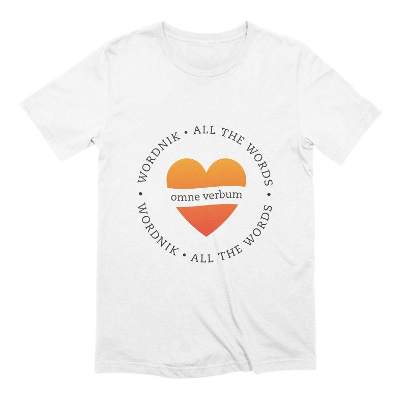Omne Verbum—All The Words! Men's Extra Soft T-Shirt by wordnik's Artist Shop