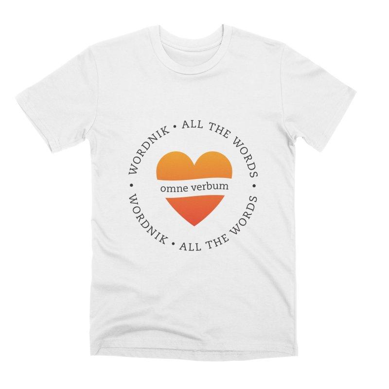 Omne Verbum—All The Words! Men's Premium T-Shirt by wordnik's Artist Shop
