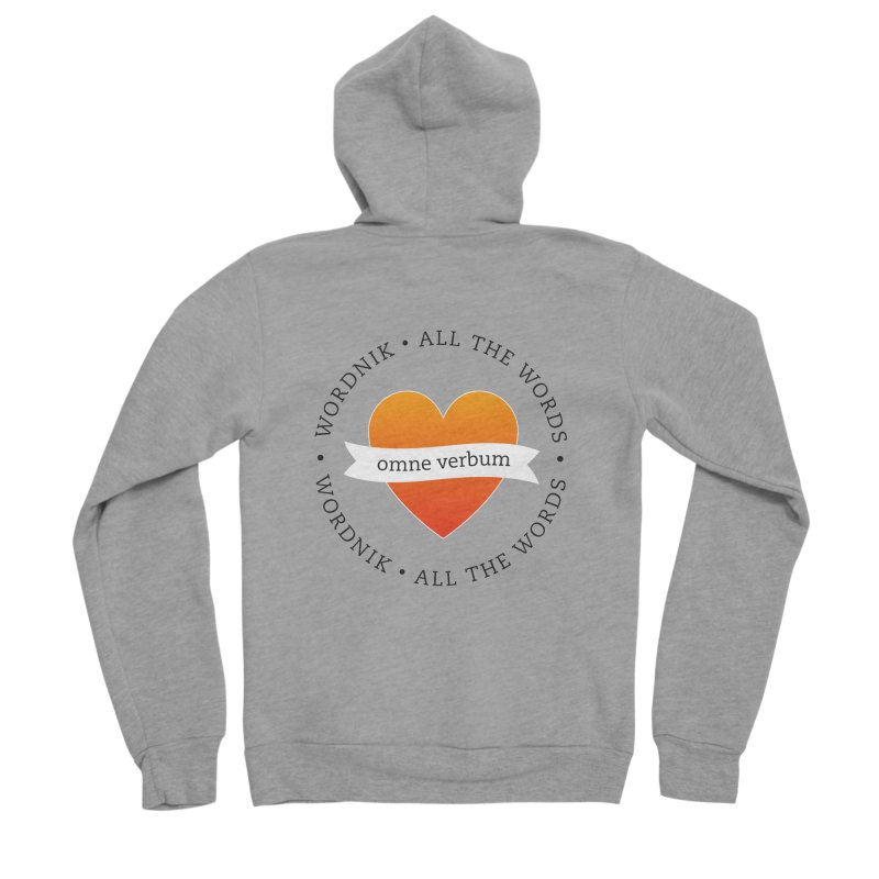 Omne Verbum—All The Words! Men's Sponge Fleece Zip-Up Hoody by wordnik's Artist Shop
