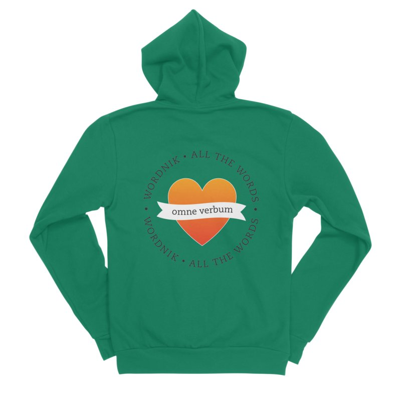 Omne Verbum—All The Words! Women's Sponge Fleece Zip-Up Hoody by wordnik's Artist Shop