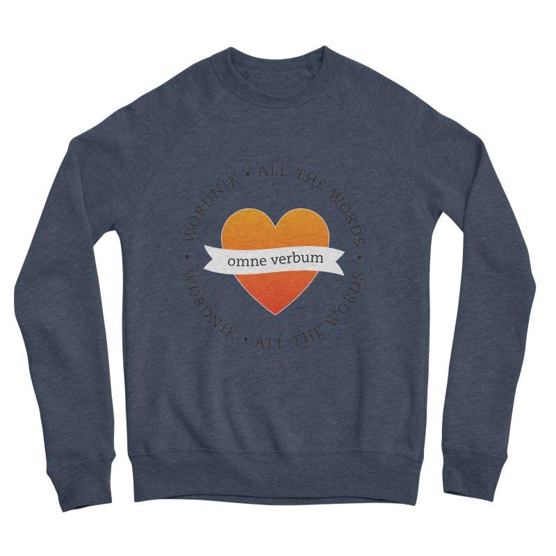Omne Verbum—All The Words! Women's Sponge Fleece Sweatshirt by wordnik's Artist Shop