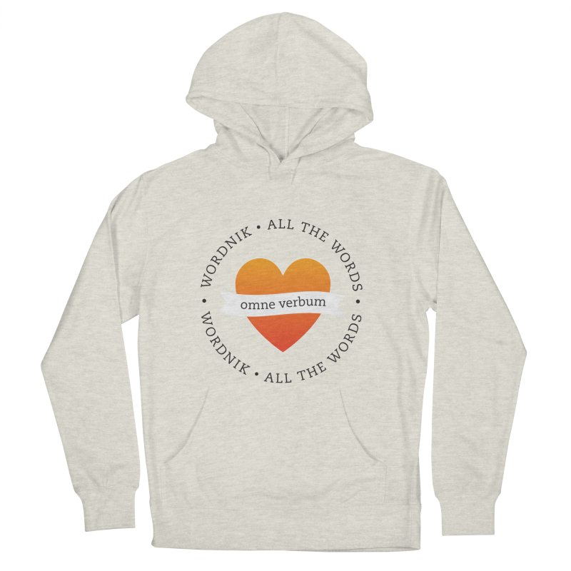 Omne Verbum—All The Words! Women's French Terry Pullover Hoody by wordnik's Artist Shop