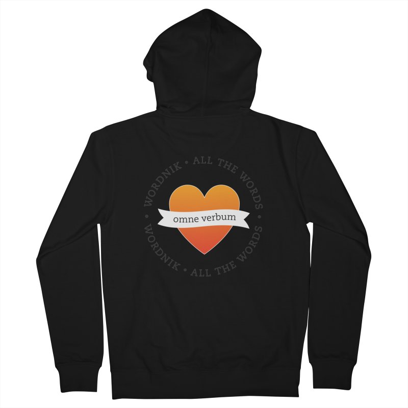 Omne Verbum—All The Words! Women's French Terry Zip-Up Hoody by wordnik's Artist Shop