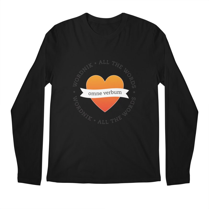 Omne Verbum—All The Words! Men's Regular Longsleeve T-Shirt by wordnik's Artist Shop