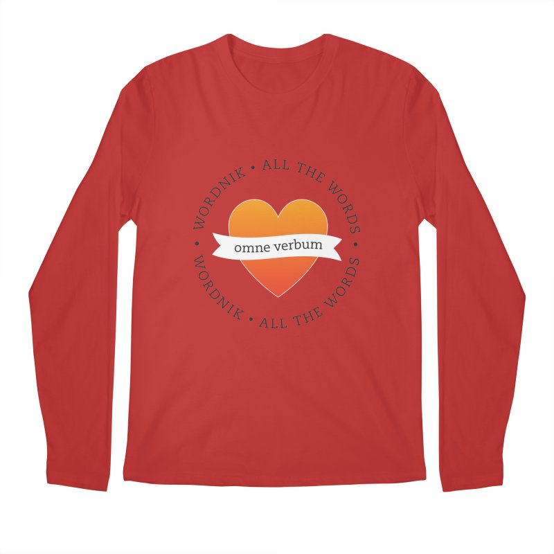 Omne Verbum—All The Words! Men's Regular Longsleeve T-Shirt by wordnik's Artist Shop