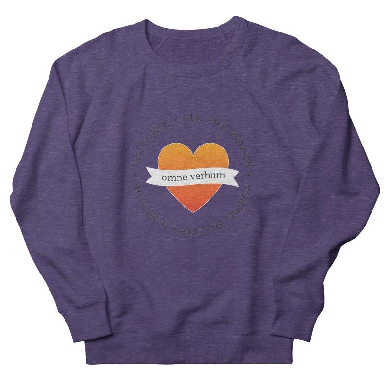 Omne Verbum—All The Words! Women's French Terry Sweatshirt by wordnik's Artist Shop