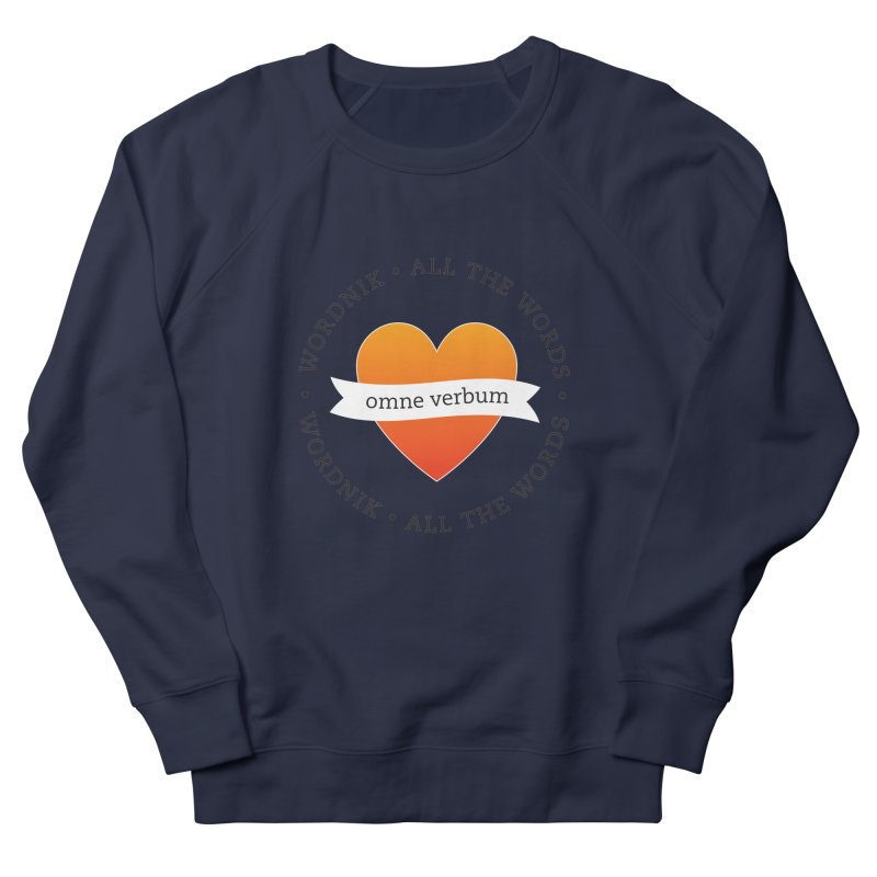 Omne Verbum—All The Words! Men's French Terry Sweatshirt by wordnik's Artist Shop