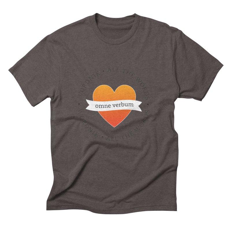 Omne Verbum—All The Words! Men's Triblend T-Shirt by wordnik's Artist Shop