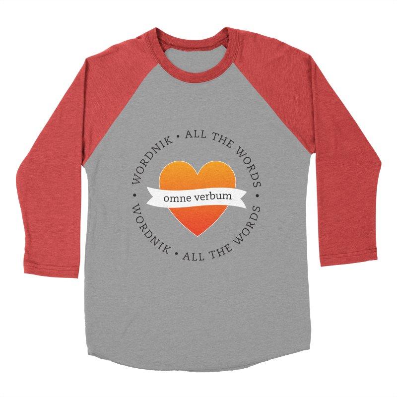 Omne Verbum—All The Words! Men's Baseball Triblend Longsleeve T-Shirt by wordnik's Artist Shop