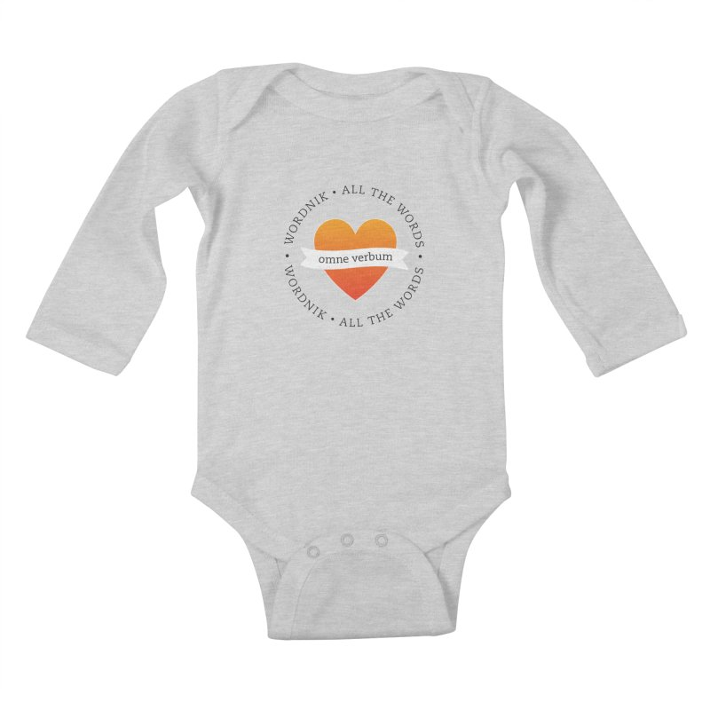 Omne Verbum—All The Words! Kids Baby Longsleeve Bodysuit by wordnik's Artist Shop