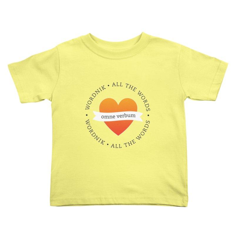 Omne Verbum—All The Words! Kids Toddler T-Shirt by wordnik's Artist Shop