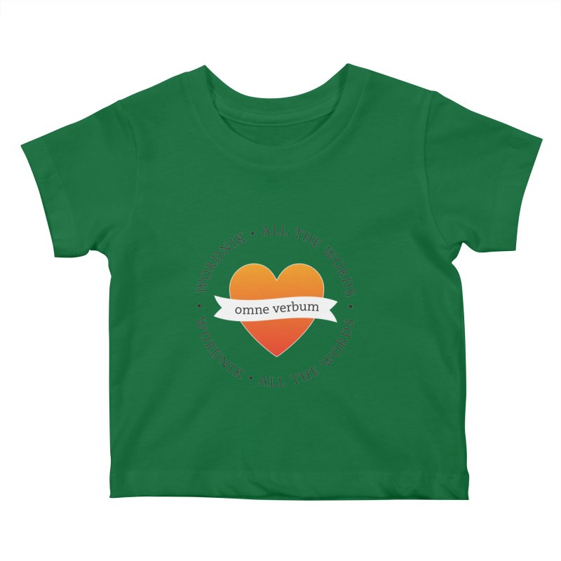 Omne Verbum—All The Words! Kids Baby T-Shirt by wordnik's Artist Shop