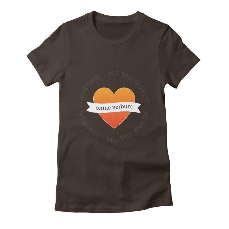 Omne Verbum—All The Words! Women's T-Shirt by wordnik's Artist Shop
