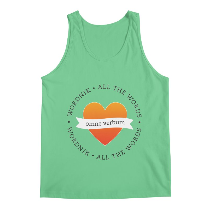 Omne Verbum—All The Words! Men's Regular Tank by wordnik's Artist Shop