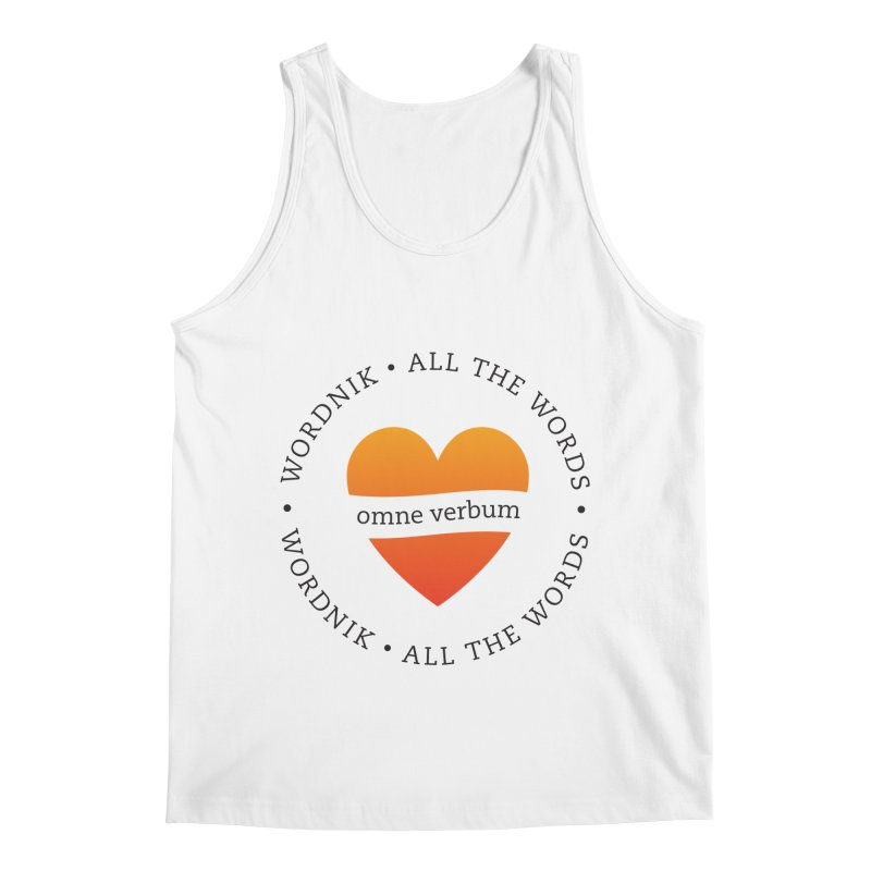 Omne Verbum—All The Words! Men's Tank by wordnik's Artist Shop
