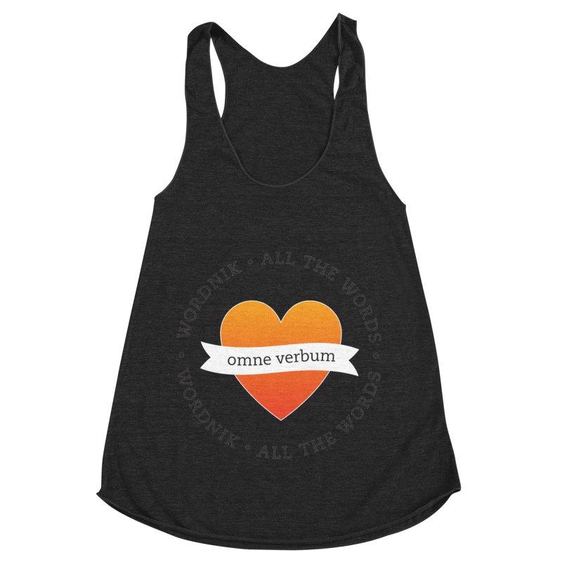 Omne Verbum—All The Words! Women's Racerback Triblend Tank by wordnik's Artist Shop