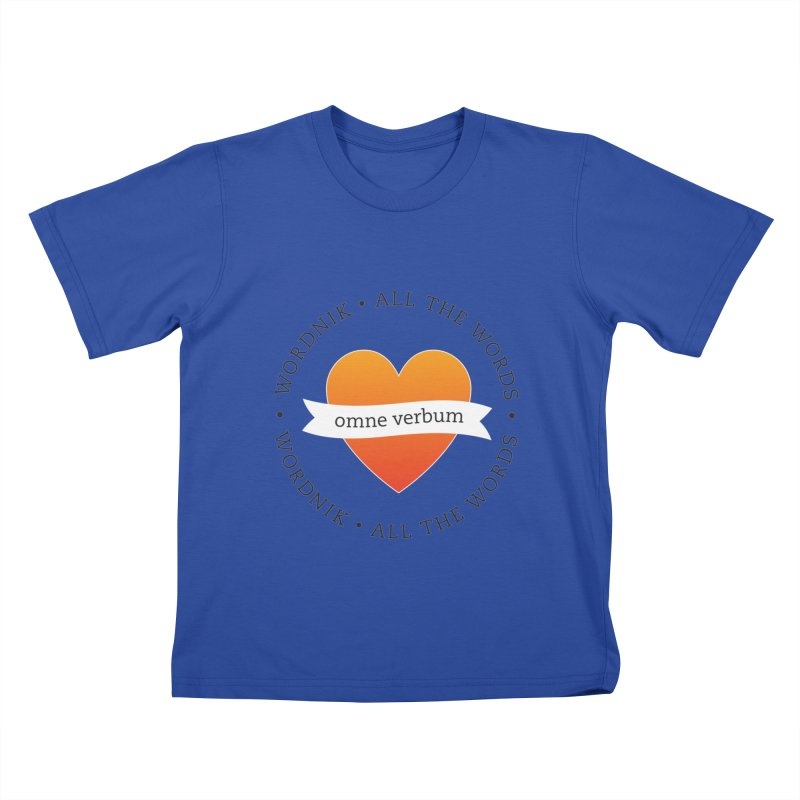 Omne Verbum—All The Words! Kids T-Shirt by wordnik's Artist Shop