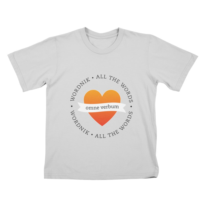 Omne Verbum—All The Words! Kids T-Shirt by wordnik's Artist Shop