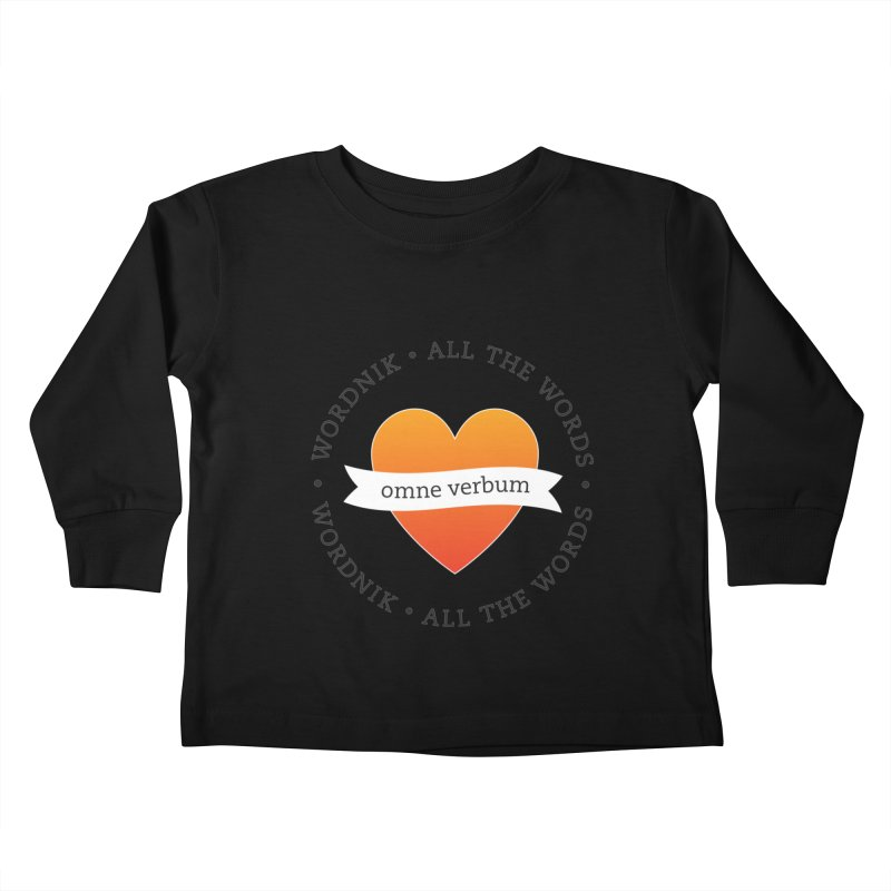 Omne Verbum—All The Words! Kids Toddler Longsleeve T-Shirt by wordnik's Artist Shop