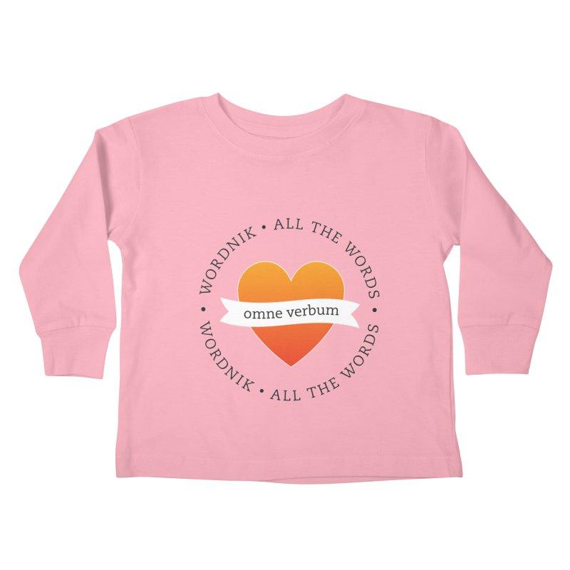 Omne Verbum—All The Words! Kids Toddler Longsleeve T-Shirt by wordnik's Artist Shop