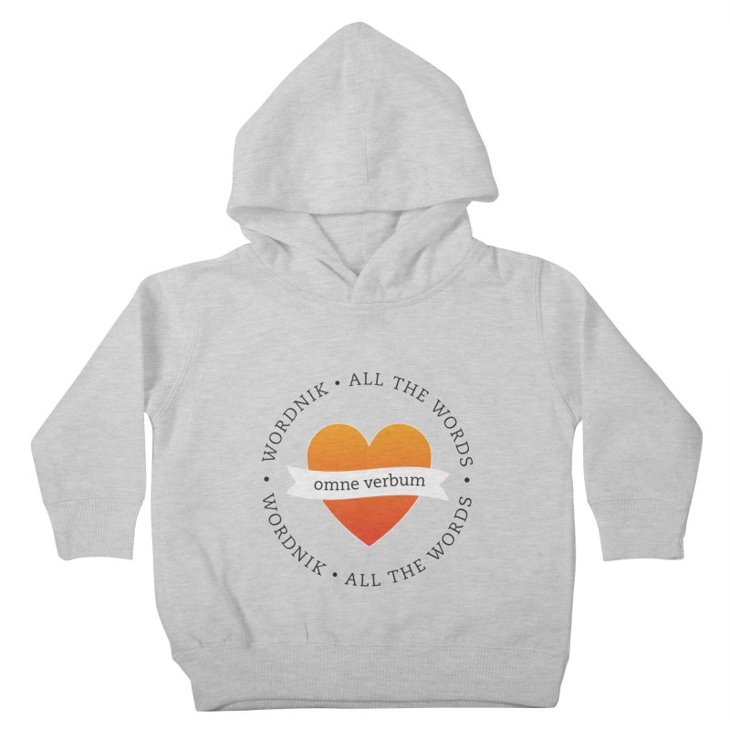 Omne Verbum—All The Words! Kids Toddler Pullover Hoody by wordnik's Artist Shop