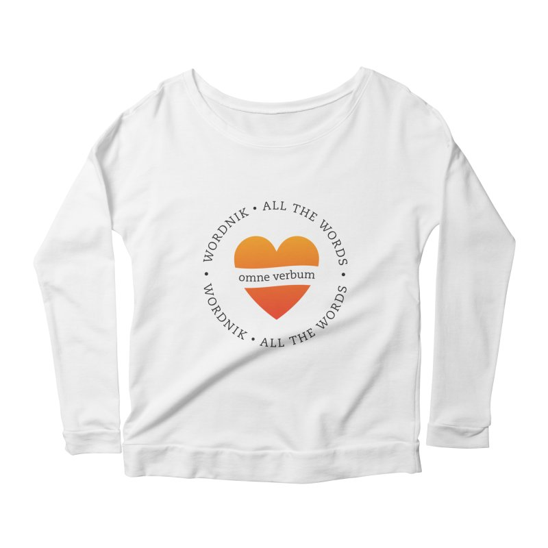 Omne Verbum—All The Words! Women's Scoop Neck Longsleeve T-Shirt by wordnik's Artist Shop
