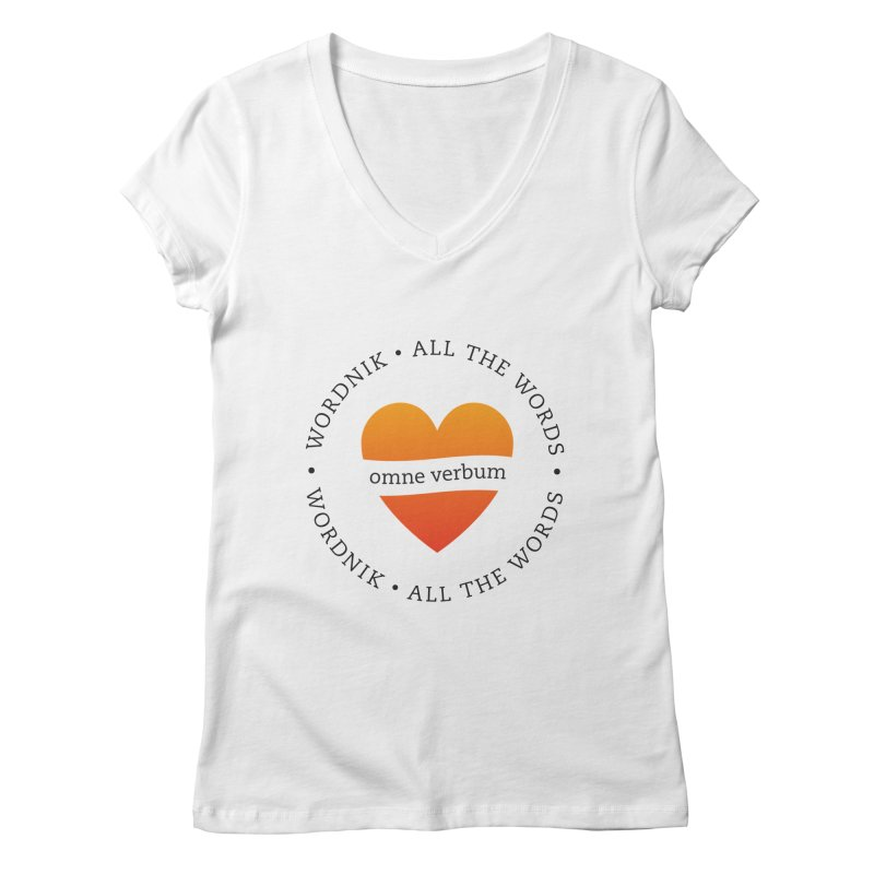 Omne Verbum—All The Words! Women's Regular V-Neck by wordnik's Artist Shop