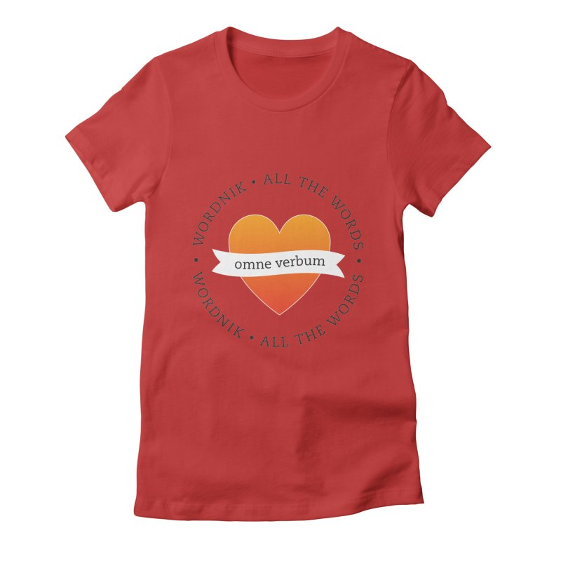 Omne Verbum—All The Words! Women's Fitted T-Shirt by wordnik's Artist Shop
