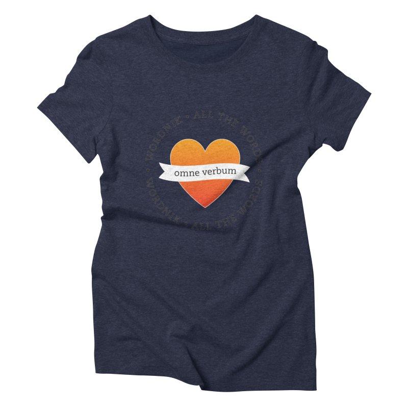 Omne Verbum—All The Words! Women's Triblend T-Shirt by wordnik's Artist Shop