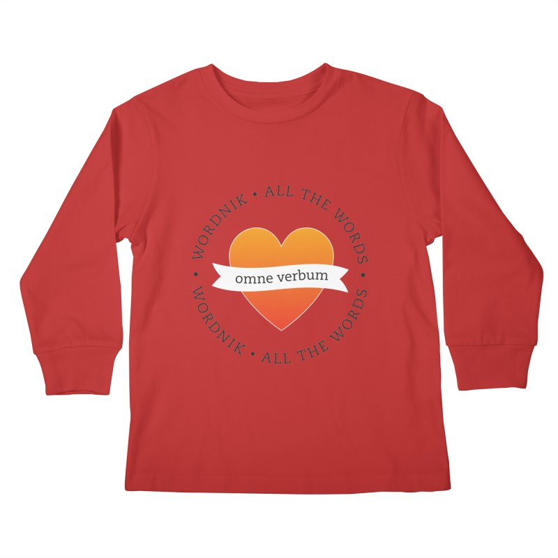 Omne Verbum—All The Words! Kids Longsleeve T-Shirt by wordnik's Artist Shop