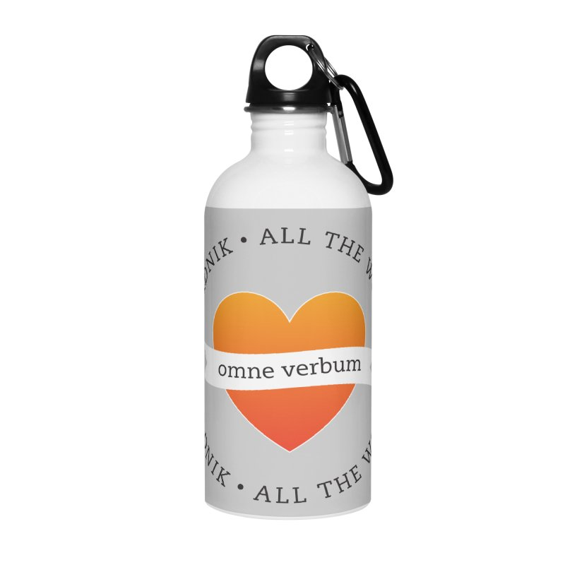 Omne Verbum—All The Words! Accessories Water Bottle by wordnik's Artist Shop