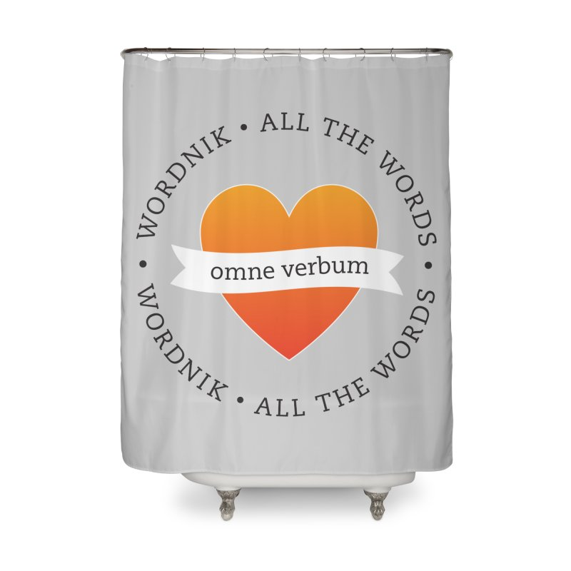 Omne Verbum—All The Words! Home Shower Curtain by wordnik's Artist Shop