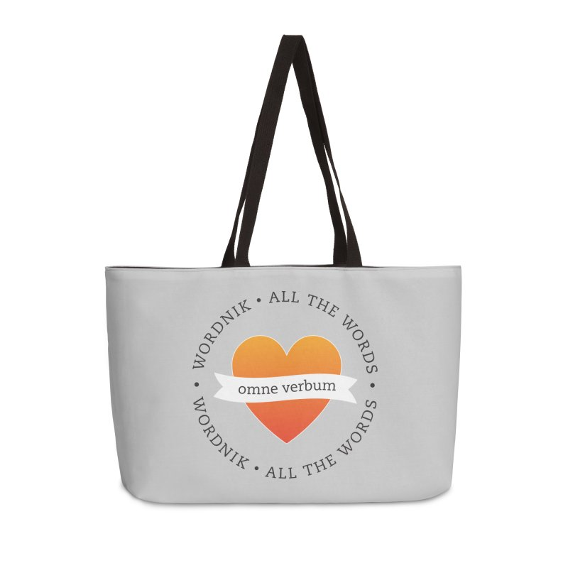Omne Verbum—All The Words! Accessories Weekender Bag Bag by wordnik's Artist Shop