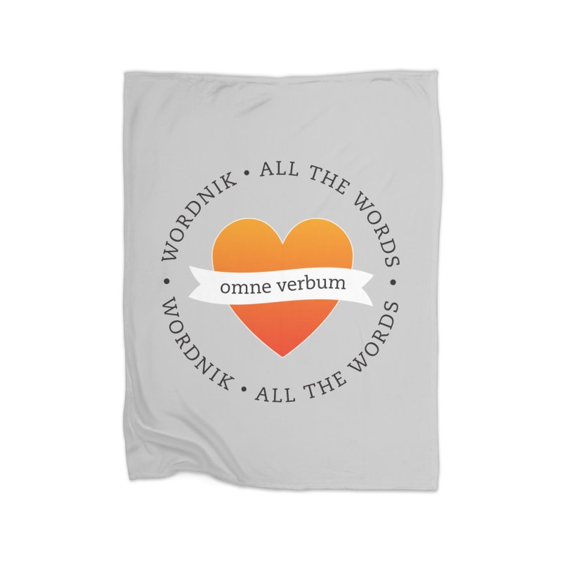Omne Verbum—All The Words! Home Fleece Blanket Blanket by wordnik's Artist Shop
