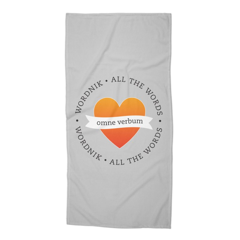Omne Verbum—All The Words! Accessories Beach Towel by wordnik's Artist Shop