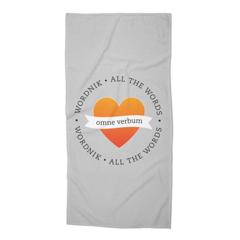 Omne Verbum—All The Words! Accessories Beach Towel by wordnik's Artist Shop