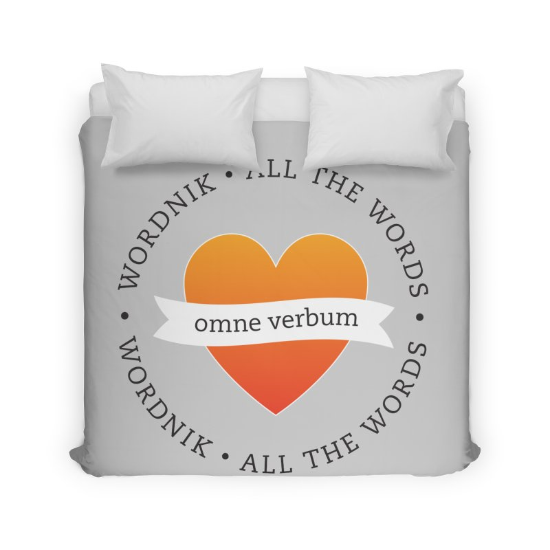 Omne Verbum—All The Words! Home Duvet by wordnik's Artist Shop