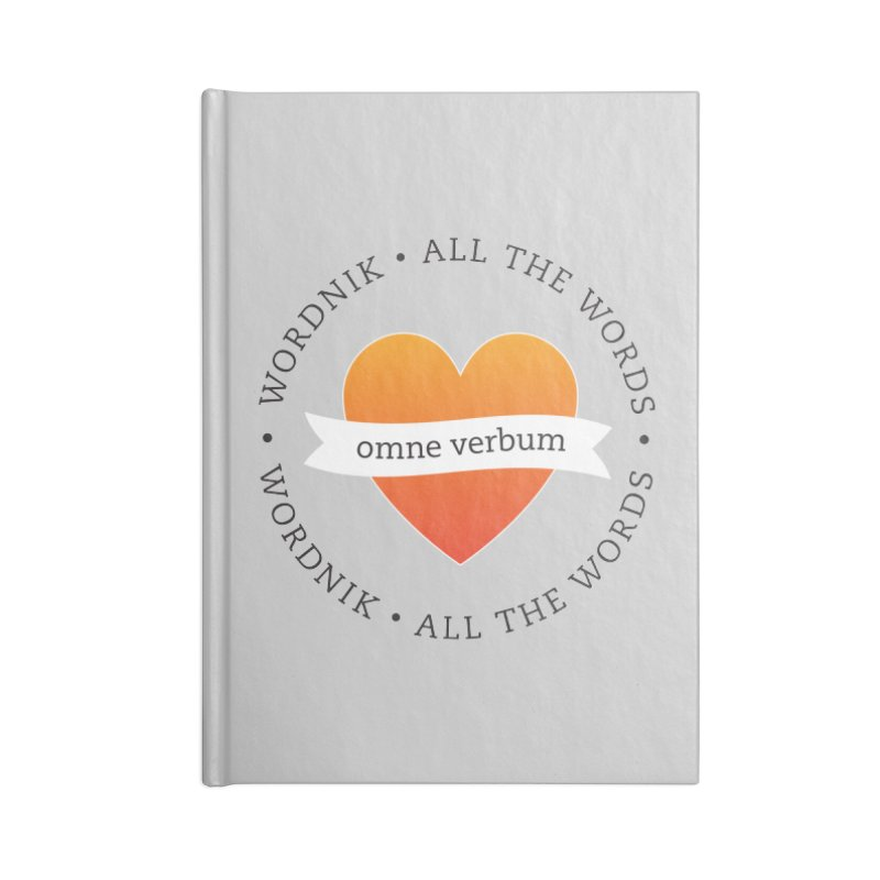 Omne Verbum—All The Words! Accessories Lined Journal Notebook by wordnik's Artist Shop