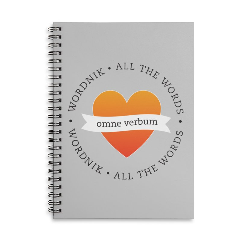 Omne Verbum—All The Words! Accessories Lined Spiral Notebook by wordnik's Artist Shop