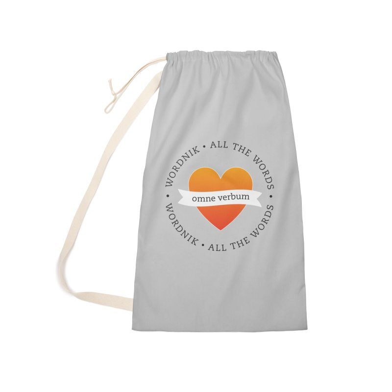 Omne Verbum—All The Words! Accessories Laundry Bag Bag by wordnik's Artist Shop