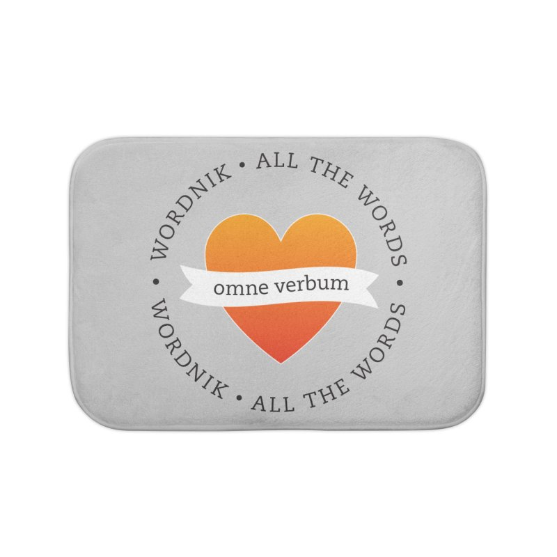 Omne Verbum—All The Words! Home Bath Mat by wordnik's Artist Shop