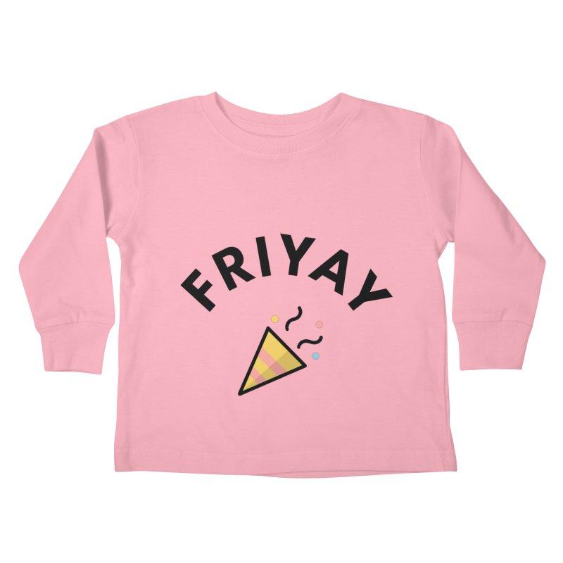 FRIYAY Kids Toddler Longsleeve T-Shirt by Work Chronicles