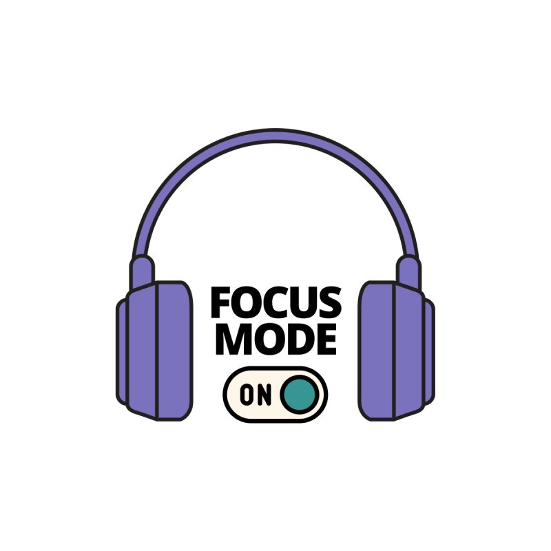 Focus Mode ON Men's T-Shirt by Work Chronicles