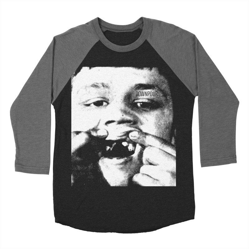 Downpour Teeth Men's Baseball Triblend Longsleeve T-Shirt by DOWNPOUR