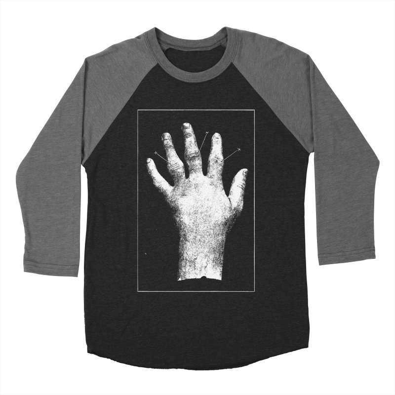 Hand Men's Baseball Triblend Longsleeve T-Shirt by DOWNPOUR