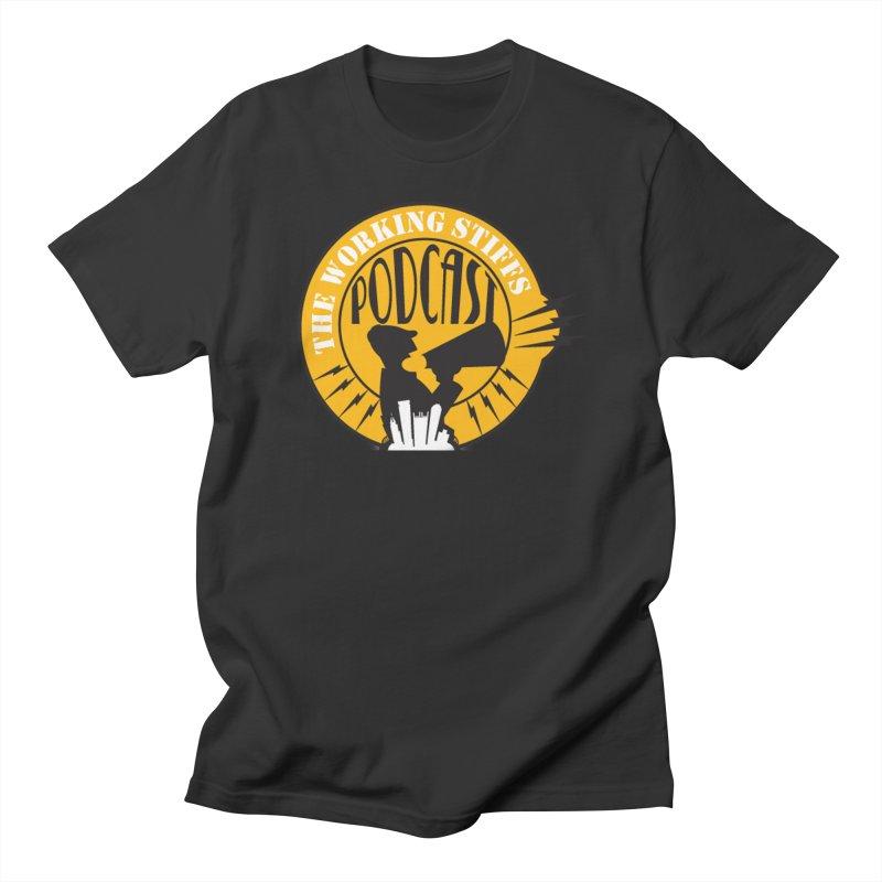 The Working Stiffs Podcast Logo Men's T-Shirt by The Working Stiffs Shop