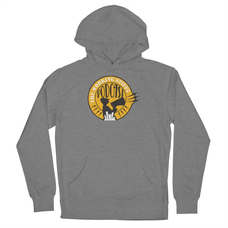 The Working Stiffs Podcast Logo Men's French Terry Pullover Hoody by The Working Stiffs Shop