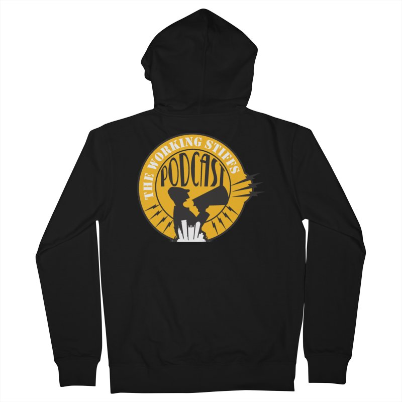 The Working Stiffs Podcast Logo Men's French Terry Zip-Up Hoody by The Working Stiffs Shop